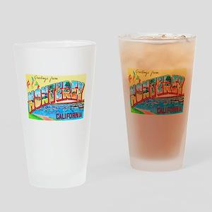 Monterey California Greetings Drinking Glass
