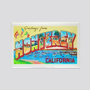 Monterey California Greetings Rectangle Magnet