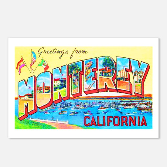 Monterey California Greetings Postcards (Package o