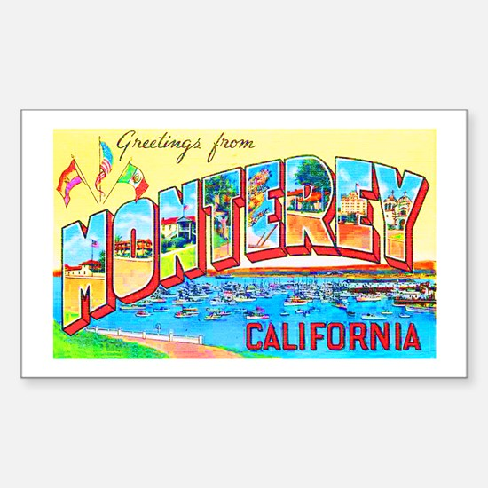 Monterey California Greetings Sticker (Rectangle)