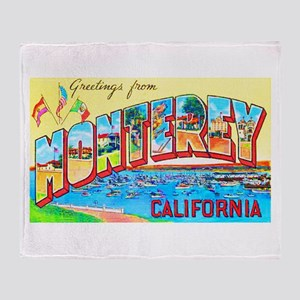 Monterey California Greetings Throw Blanket