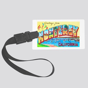 Monterey California Greetings Large Luggage Tag