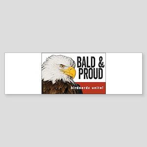 "Bald Eagle ""Bald & Proud"" Sticker (Bumper)"