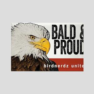 "Bald Eagle ""Bald & Proud"" Rectangle Magnet"