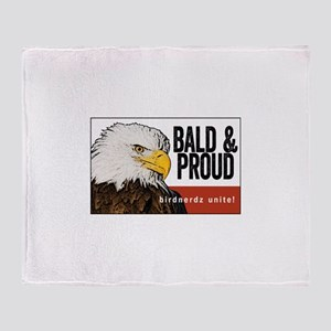 "Bald Eagle ""Bald & Proud"" Throw Blanket"