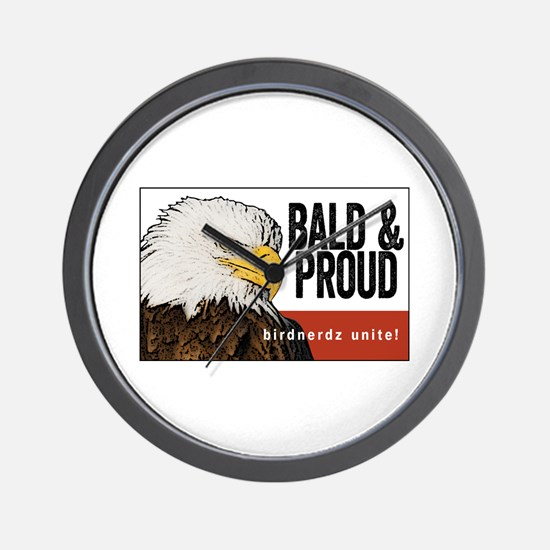 "Bald Eagle ""Bald & Proud"" Wall Clock"