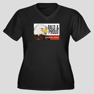 """Bald Eagle """"Bald & Proud"""" Women's Plus Size V-Neck"""