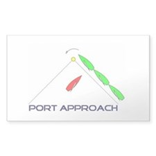 Port Approach - logo Sticker (Rectangle)