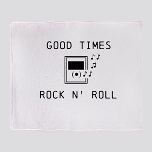 Good Times, Rock N' Roll Throw Blanket