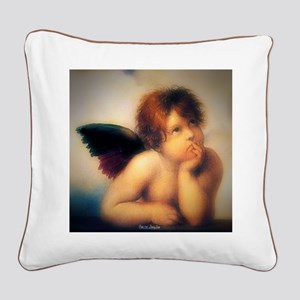 Putti Angel 1513 Square Canvas Pillow
