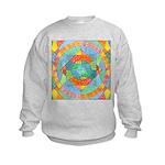 Sacred Geometry Watercolor Kids Sweatshirt