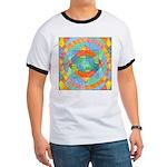 Sacred Geometry Watercolor Ringer T