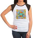 Sacred Geometry Watercolor Women's Cap Sleeve T-Sh