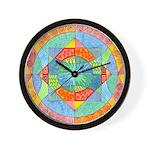 Sacred Geometry Watercolor Wall Clock
