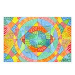 Sacred Geometry Watercolor Postcards (Package of 8