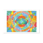 Sacred Geometry Watercolor Mini Poster Print