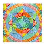 Sacred Geometry Watercolor Tile Coaster