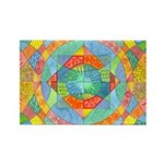 Sacred Geometry Watercolor Rectangle Magnet