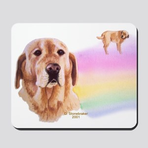 Rainbow Bridge Yellow Lab Mousepad