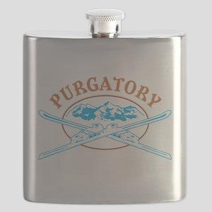 Purgatory Crossed-Skis Badge Flask