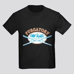 Purgatory Crossed-Skis Badge Kids Dark T-Shirt
