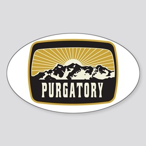 Purgatory Sunshine Patch Sticker (Oval)