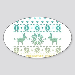 Purgatory Blue Winter Sweater Sticker (Oval)