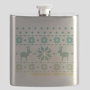 Purgatory Blue Winter Sweater Flask