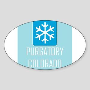 Purgatory Snowflake Sticker (Oval)