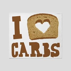 I Love Carbs! Throw Blanket