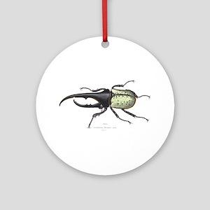 Scarab Hercules Beetle Ornament (Round)