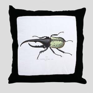 Scarab Hercules Beetle Throw Pillow