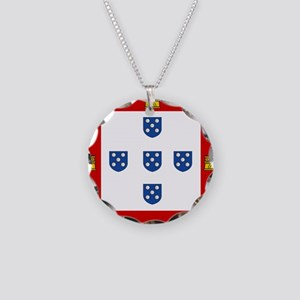 Portugal - National Flag - 1485 Necklace Circle Ch