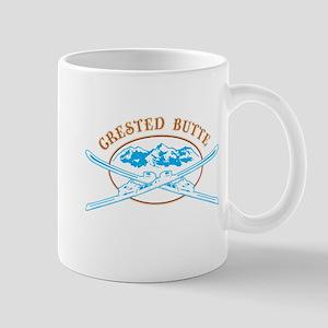 Crested Butte Crossed-Skis Badge Mug
