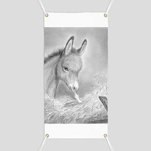 Baby Jesus Blessing Donkey ~ Banner