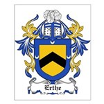 Erthe Coat of Arms Small Poster