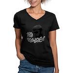 The Realest Women's V-Neck Dark T-Shirt