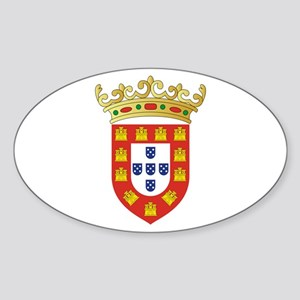 Portugal - National Flag - 1495 Sticker (Oval)