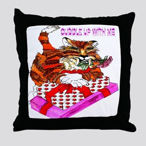 tigger cuddle up with me Throw Pillow