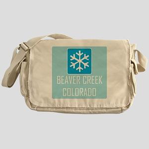 Beaver Creek Snowflake Messenger Bag