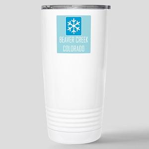 Beaver Creek Snowflake Stainless Steel Travel Mug