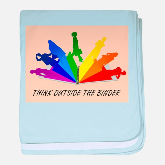Think Outside the Binder baby blanket