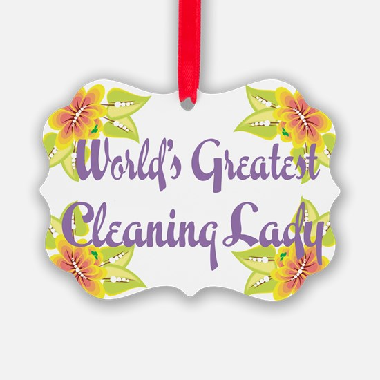Worlds Greatest Cleaning Lad Ornament