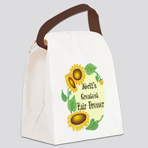 Worlds Greatest Hair Dresser Canvas Lunch Bag