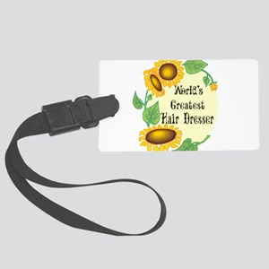 Worlds Greatest Hair Dresser Large Luggage Tag