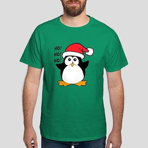 Cute Christmas Penguin Ho Ho Ho Dark T-Shirt
