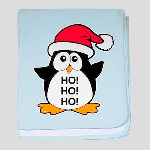 Cute Christmas Penguin Ho Ho Ho baby blanket