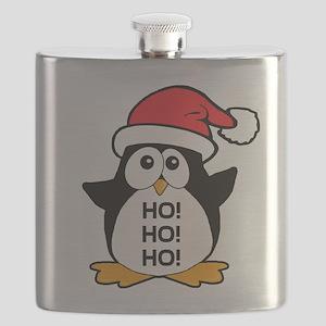 Cute Christmas Penguin Ho Ho Ho Flask