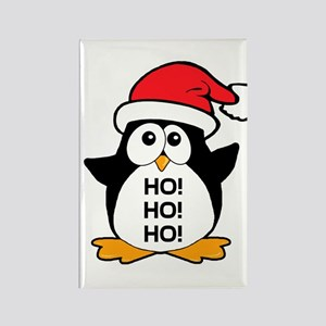 Cute Christmas Penguin Ho Ho Ho Rectangle Magnet