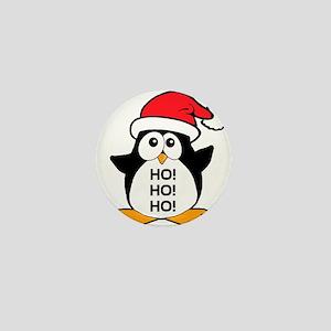 Cute Christmas Penguin Ho Ho Ho Mini Button